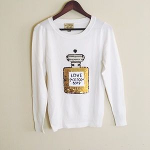 Wildfox Love Potion No9 Sweater Pullover Sequin S